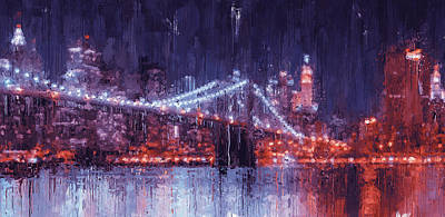 Painting - New York Panorama - 31 by Andrea Mazzocchetti