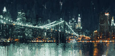 Painting - New York Panorama - 32 by Andrea Mazzocchetti