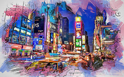 Painting - New York Panorama - 33 by Andrea Mazzocchetti