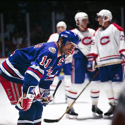 Photograph - New York Rangers V Montreal Canadiens by Denis Brodeur