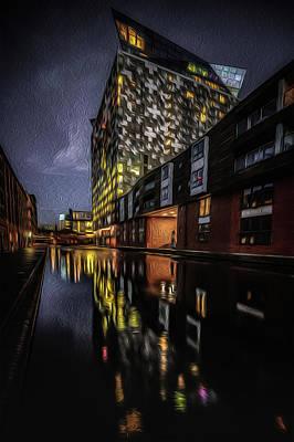 Photograph - Night Cube Portrait by Chris Fletcher