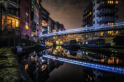 Photograph - Night In Sherborne Wharf Boat Park by Chris Fletcher