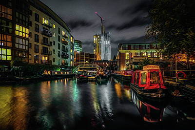 Photograph - Night In Sherborne Wharf by Chris Fletcher