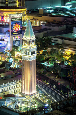 Photograph - Night Time On Als Vegas Strip In Nevada by Alex Grichenko