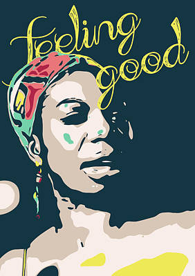 Jazz Digital Art - Nina Simone by Greatom London