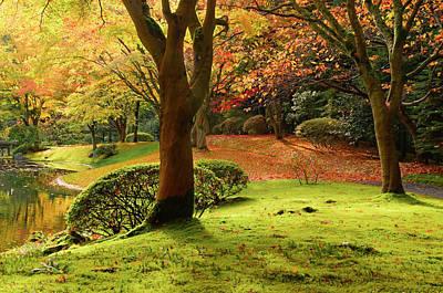 Photograph - Nitobe Memorial Garden, A Traditional by Michael Wheatley