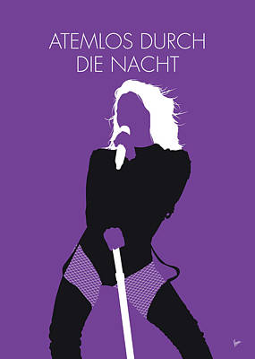 Digital Art - No221 My Helene Fischer Minimal Music Poster by Chungkong Art