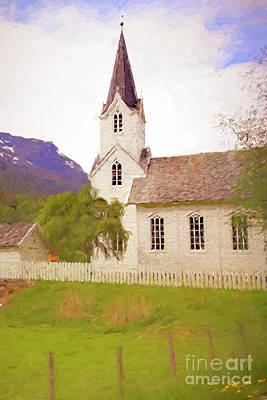Mixed Media - Norwegian Church by Susan Lafleur