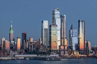 Photograph - Nyc Skyline Blue Hour by Susan Candelario