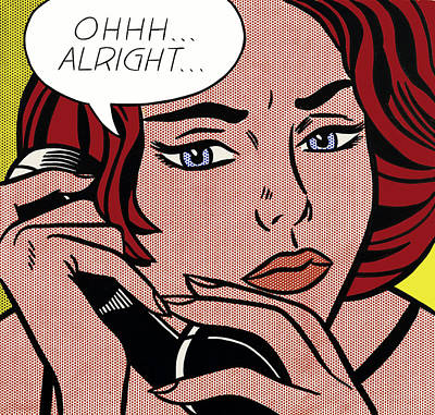 Photograph - Ohhh...alright  by Doc Braham - In Tribute to Roy Lichtenstein