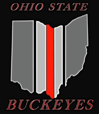 Recently Sold - Sports Royalty-Free and Rights-Managed Images - Ohio State Buckeyes Map by Dan Sproul