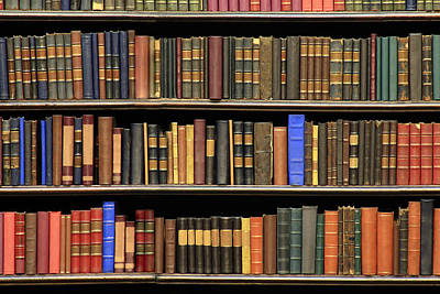 Photograph - Old Books On A Library by Luoman