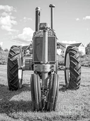 Photograph - Old John Deere Vintage Tractor Stowe Vermont by Edward Fielding