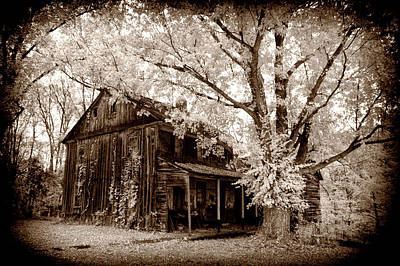 Photograph - Old Toned Infrared Farm House by Paul W Faust - Impressions of Light