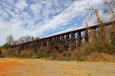 Photograph - Old Wooden Bridge 10 Color by Joseph C Hinson Photography