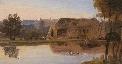 Painting - On The Kennet, Reading by William Havell