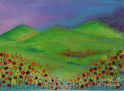 Painting - Orange Poppies by Kim Nelson