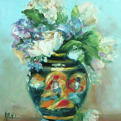 Wall Art - Painting - Oriental Vase by Kathryn McMahon