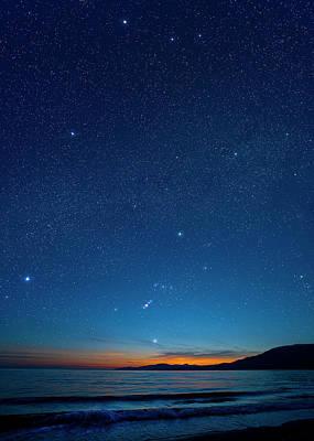 Photograph - Orion Constellation Over The Georgia by David Nunuk