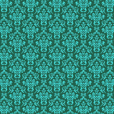 Sean Rights Managed Images - Ornamental Flower and Vines Pattern Royalty-Free Image by Jared Davies