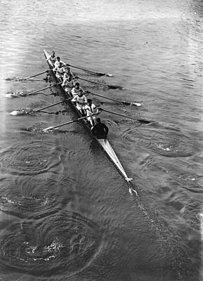 England Photograph - Oxford  Oarsmen by Topical Press Agency