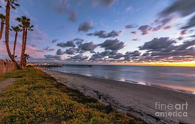 Photograph - Pacific Beach Sunset  by Roman Gomez