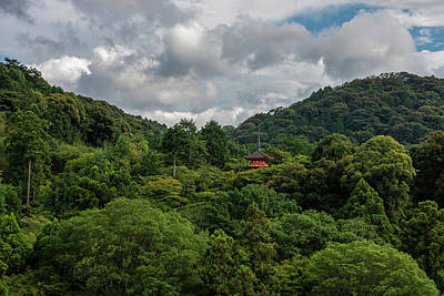 License Plate Skylines And Skyscrapers Rights Managed Images - Pagoda In Forest At Kiyomizu Temple In Kyoto Royalty-Free Image by Sina Vodjani