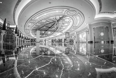 Photograph - Palazzo Hotel Lobby And Ahlls In Las Vegas Nevada by Alex Grichenko