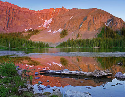 Photograph - Palmyra Peak Reflected In Alta Lake by Tim Fitzharris/ Minden Pictures
