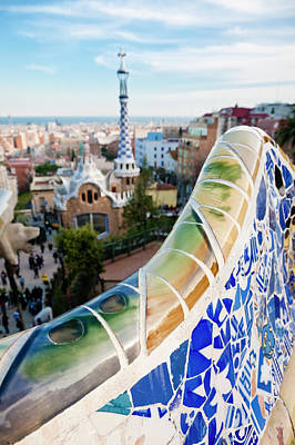 Photograph - Parc Guell, Barcelona by Mauro grigollo