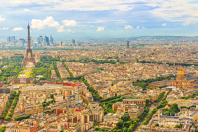 Photograph - Paris Aerial Skyline by Benny Marty