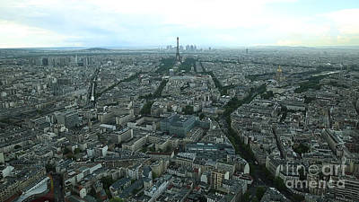 Photograph - Paris Aerial Time Lapse by Benny Marty
