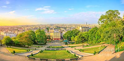 Photograph - Paris Montmartre Skyline by Benny Marty