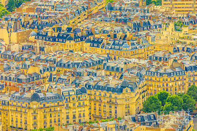 Photograph - Parisian Roofs Skyline by Benny Marty