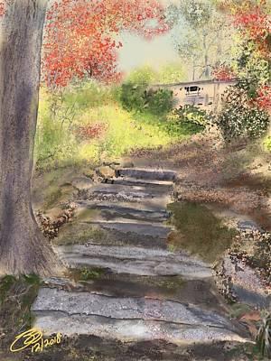 Digital Art - Path To The Cabin by Joel Deutsch