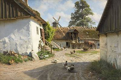 Painting - Peder Monsted Denmark 1859 1941 Garden Interiors From Blaabaek Watermill by Celestial Images