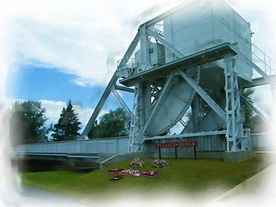 Digital Art - Pegasus Bridge by JLowPhotos