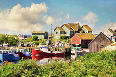 Mixed Media - Peggy's Cove, Nova Scotia by Peggy Collins