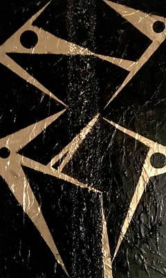 Joan Raspo Wall Art - Mixed Media - Pelicans by Joan Raspo
