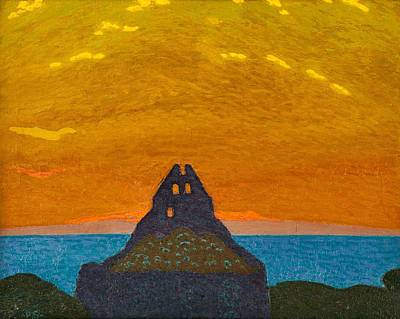 Painting - Pelle Swedlund  1865 1947  St  Nicolai Churchyard by Celestial Images