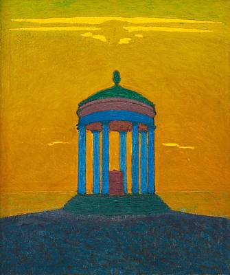 Painting - Pelle Swedlund  1865 1947   Temple by Celestial Images