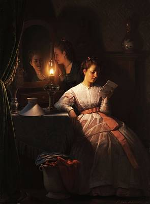 Painting - Petrus Van Schendel   Der Liebesbrief by Celestial Images