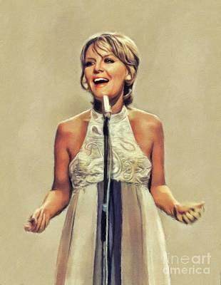 Music Paintings - Petula Clark, Music Legend by Esoterica Art Agency