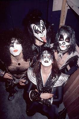 Photograph - Photo Of Gene Simmons And Paul Stanley by Fin Costello