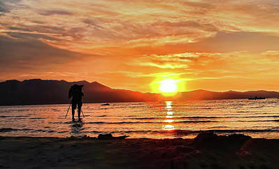 Photograph - Photographing Lake Tahoe Sunset by Pat Cook