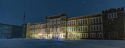 Parkersburg Wv Photograph - Phs At Night by Jonny D