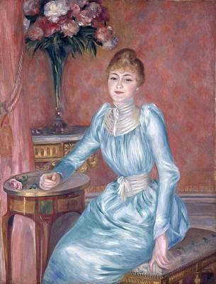 Painting - Pierre Auguste Renoir  French, 1841-1919   Portrait Of Madame De Bonnieres   1889  by Celestial Images