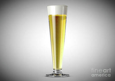Beer Royalty-Free and Rights-Managed Images - Pilsner Beer Pint by Allan Swart