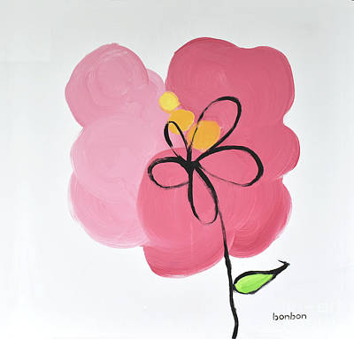 Painting - Pink Flower by Bonnie Owen