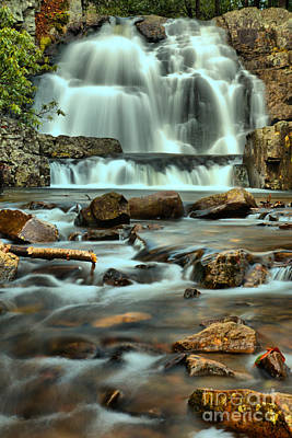 Photograph - Hawk Falls Poconos Portrait by Adam Jewell